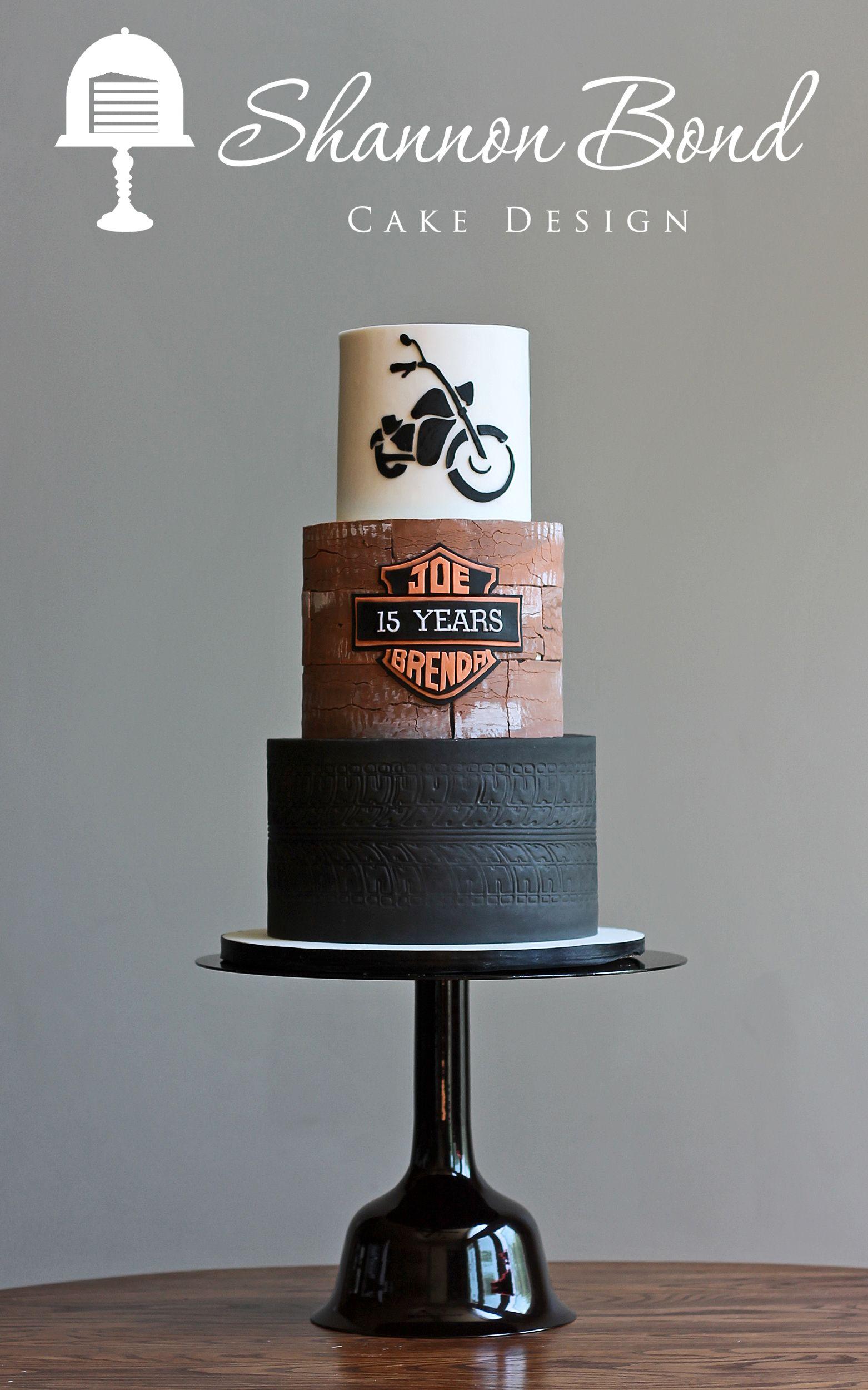 Motorcycle Anniversary Cake wwwsbcakedesigncom Shannon Bond Cake