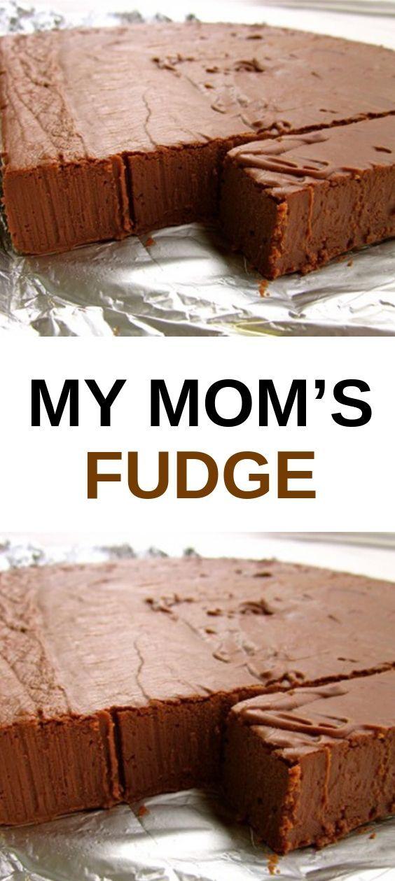 My Mom S Fudge Fudge Recipes Chocolate Homemade Fudge Semi Sweet Chocolate Chips