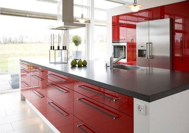 Czerwona Kuchnia Rubi Meble Kitchen Design Kitchen Kitchen Cabinets