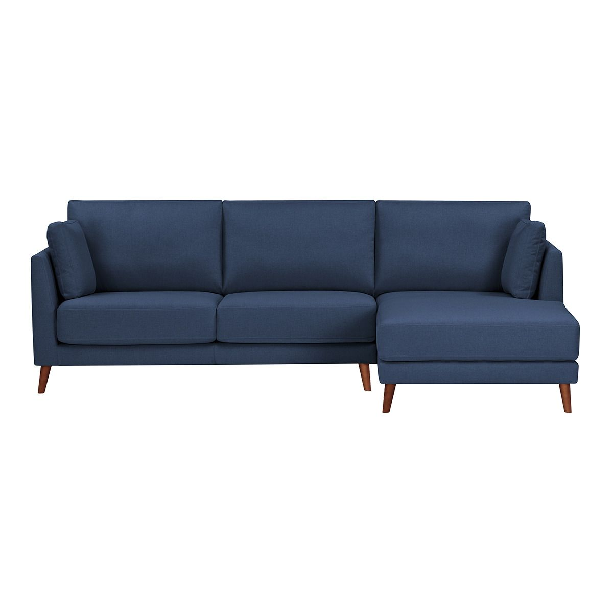 Groovy Sofa Tapizado De 2 Plazas Con Chaise Longue Derecha Azul Caraccident5 Cool Chair Designs And Ideas Caraccident5Info