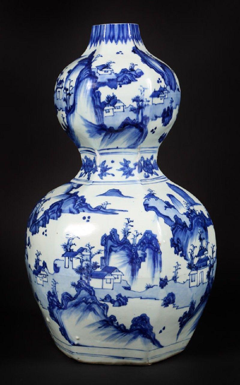 Asian Hexagonal Cobalt Blue and White