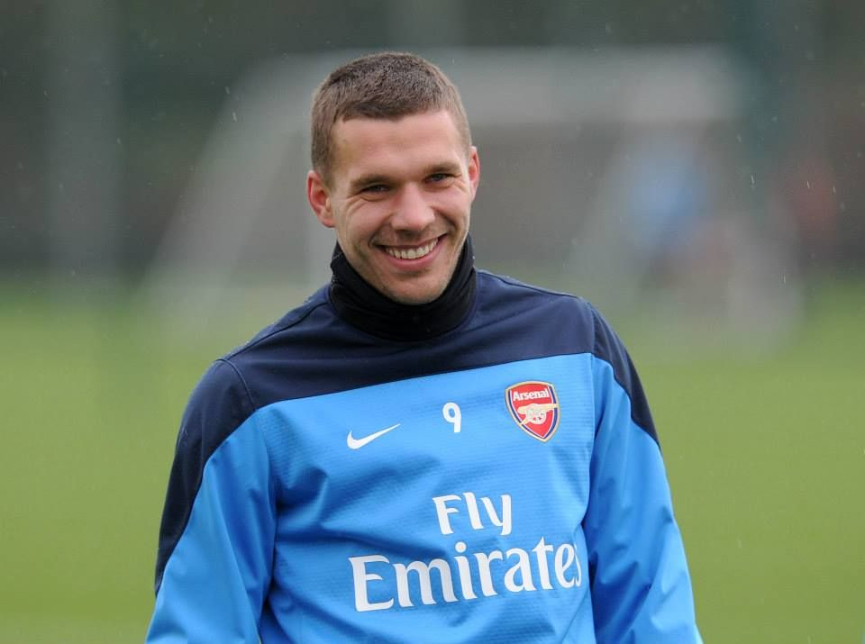 Podolski in Training Before FA Cup Match vs Coventry 2013-2014.