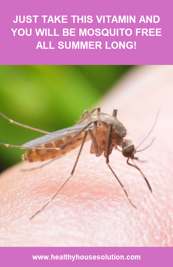 Just Take This Vitamin And You Will Be Mosquito Free All Summer Long Healthy House Solut Natural Health Tips Coconut Health Benefits Alternative Health Care