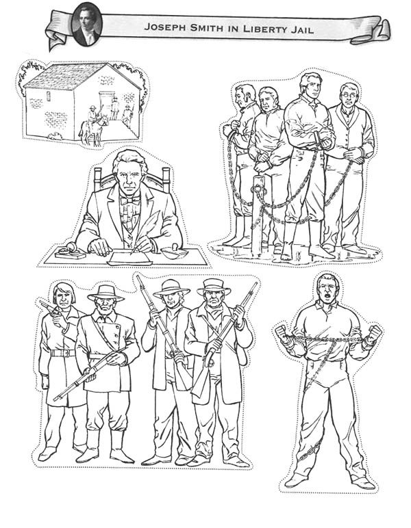 joseph in jail coloring page - joseph smith in liberty jail coloring page fhe ideas