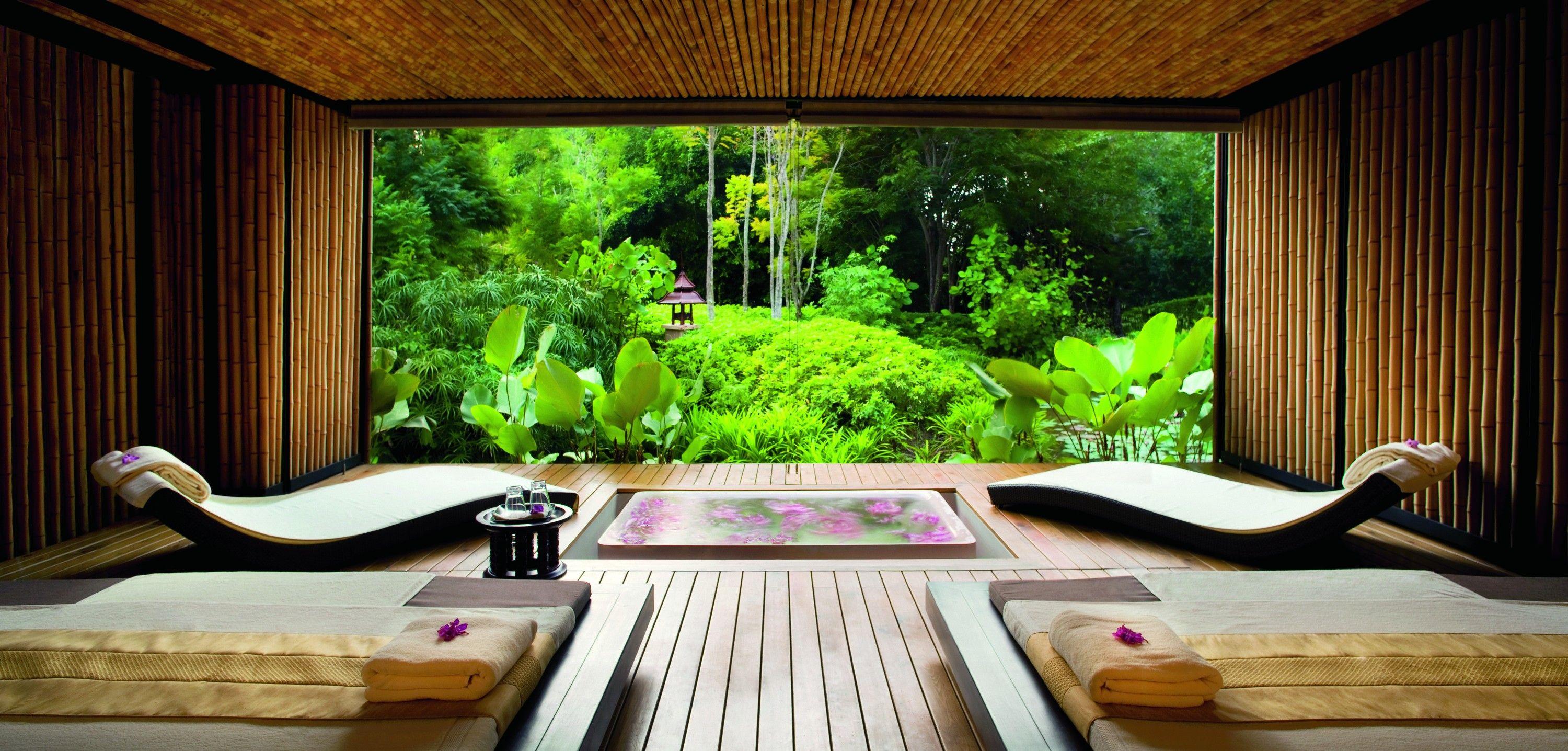 Relax and unwind in ESPA's VIP treatment room at Phulay Bay, a Ritz-Carlton Reserve.