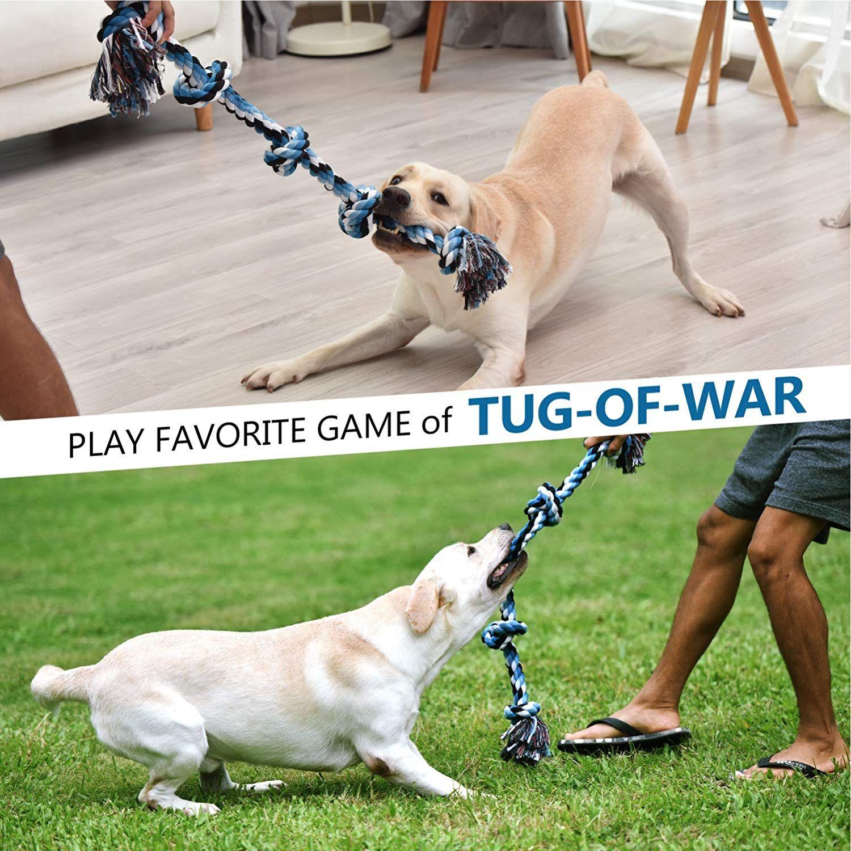 Kiliki Dog Rope Toys For Aggressive Chewers 3 Feet 5 Knots