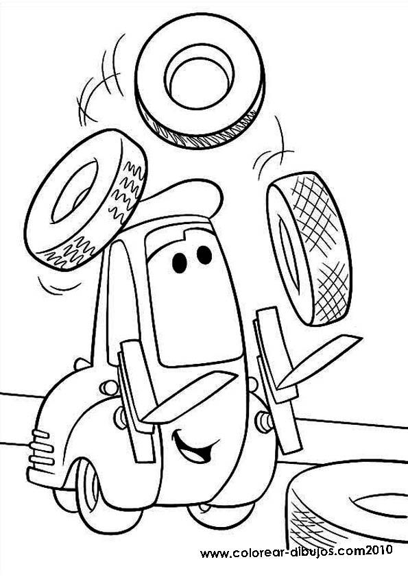 free cars cartoon coloring pages | Pin on Disney Cars Party