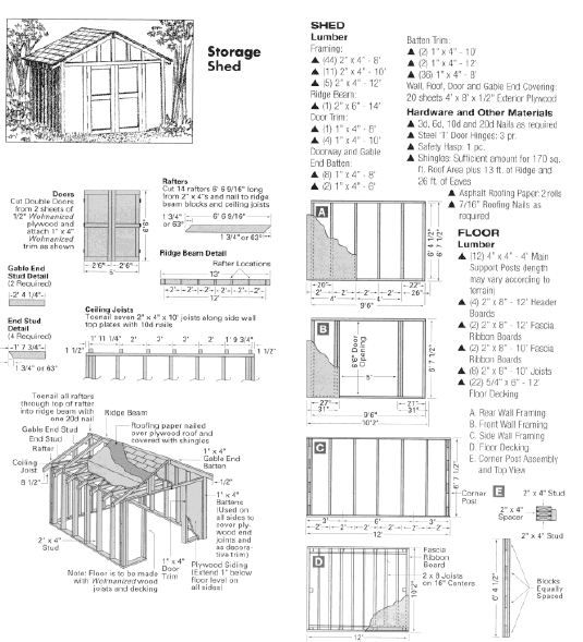Woodworking plan for storage shed.   Woodworking crafts   Pinterest ...