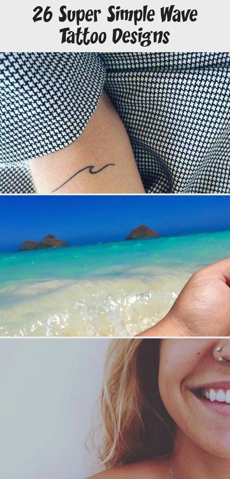Photo of Minimalistic Wave Tattoo on Ribcage #minimaltattoomodels