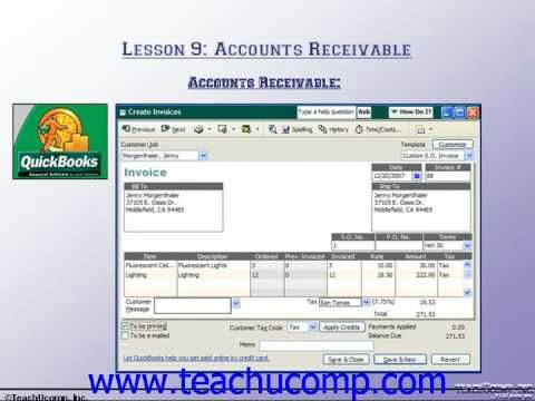 Accounting Tutorial Accounts Receivable Training Lesson 91 Work - accounts payable excel spreadsheet template