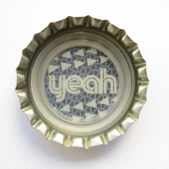 "Coca-Cola Brasil promotional ""yeah"" bottle cap."