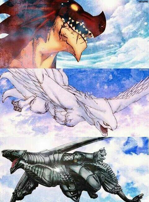 Igneel, Grandeeney, Metalicana, dragons; Fairy Tail