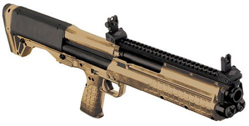 KEL KSG Kel Tec Shotgun 12 Gauge 18.5 Inch Barrel 2.75 Inch Chamber Picatinny Rails Dual Magazine Tubes Tungsten Finish 14 Rounds KSG Shotguns