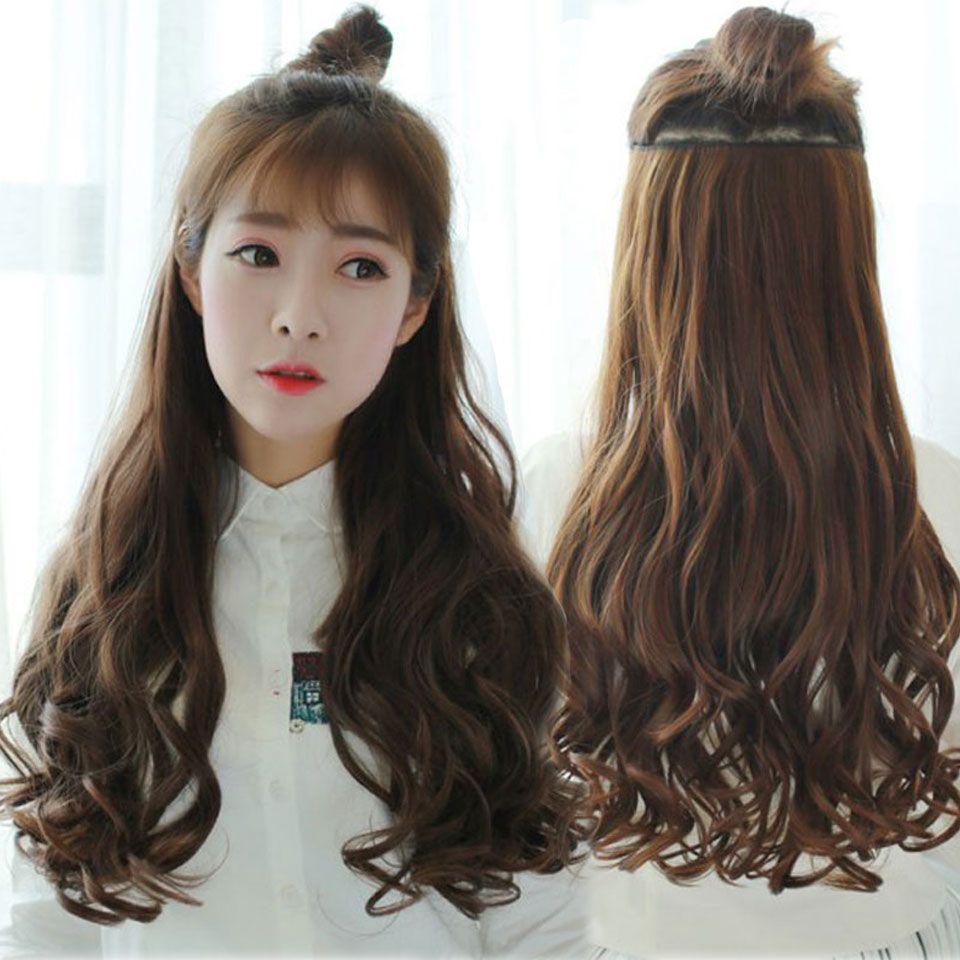 70 cm 5 clip extension de cheveux r sistant la chaleur faux postiches long ondul coiffures. Black Bedroom Furniture Sets. Home Design Ideas