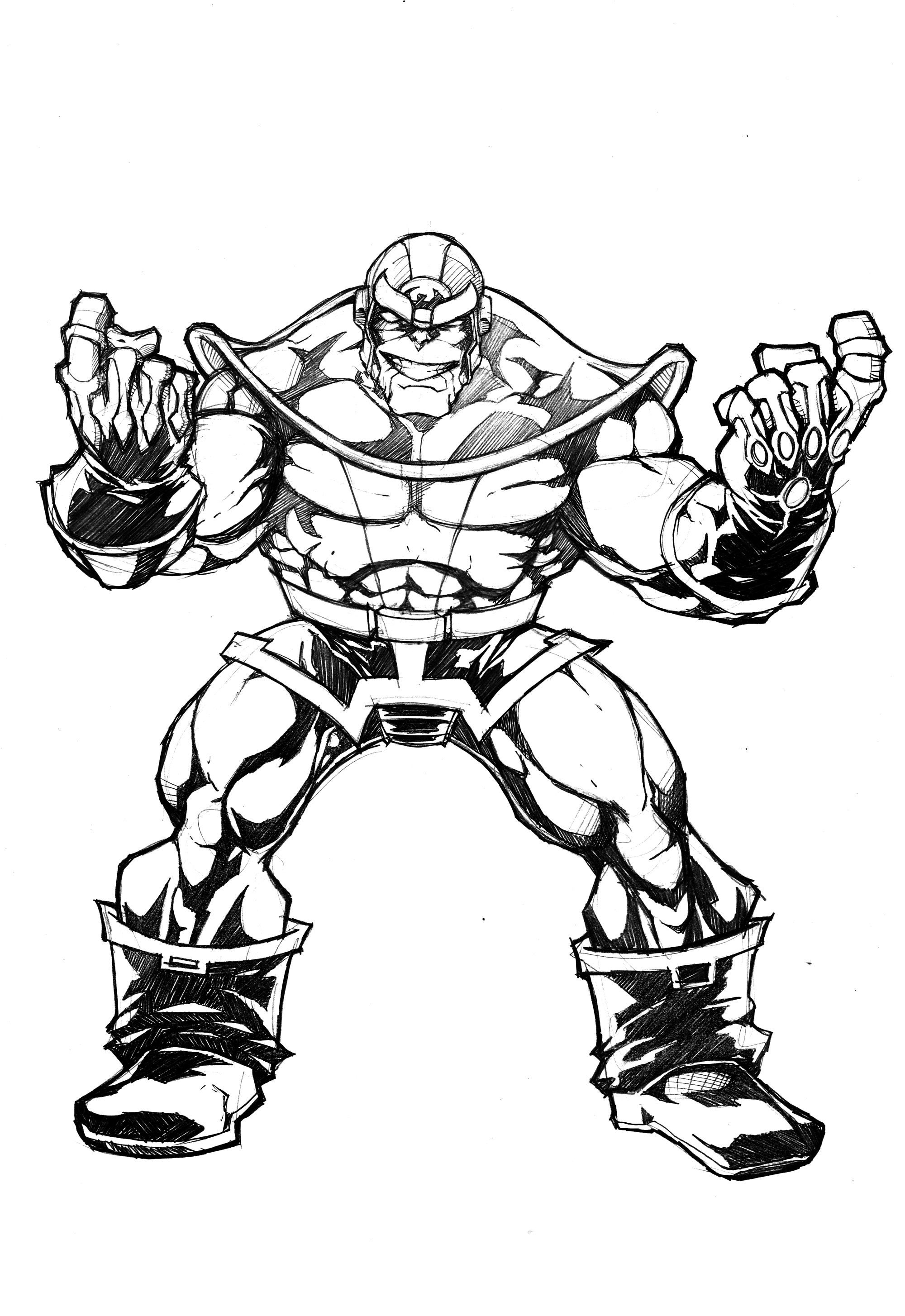Thanos By Wolverine76 Coloring Pages Pikachu Coloring Page Iron Man Drawing