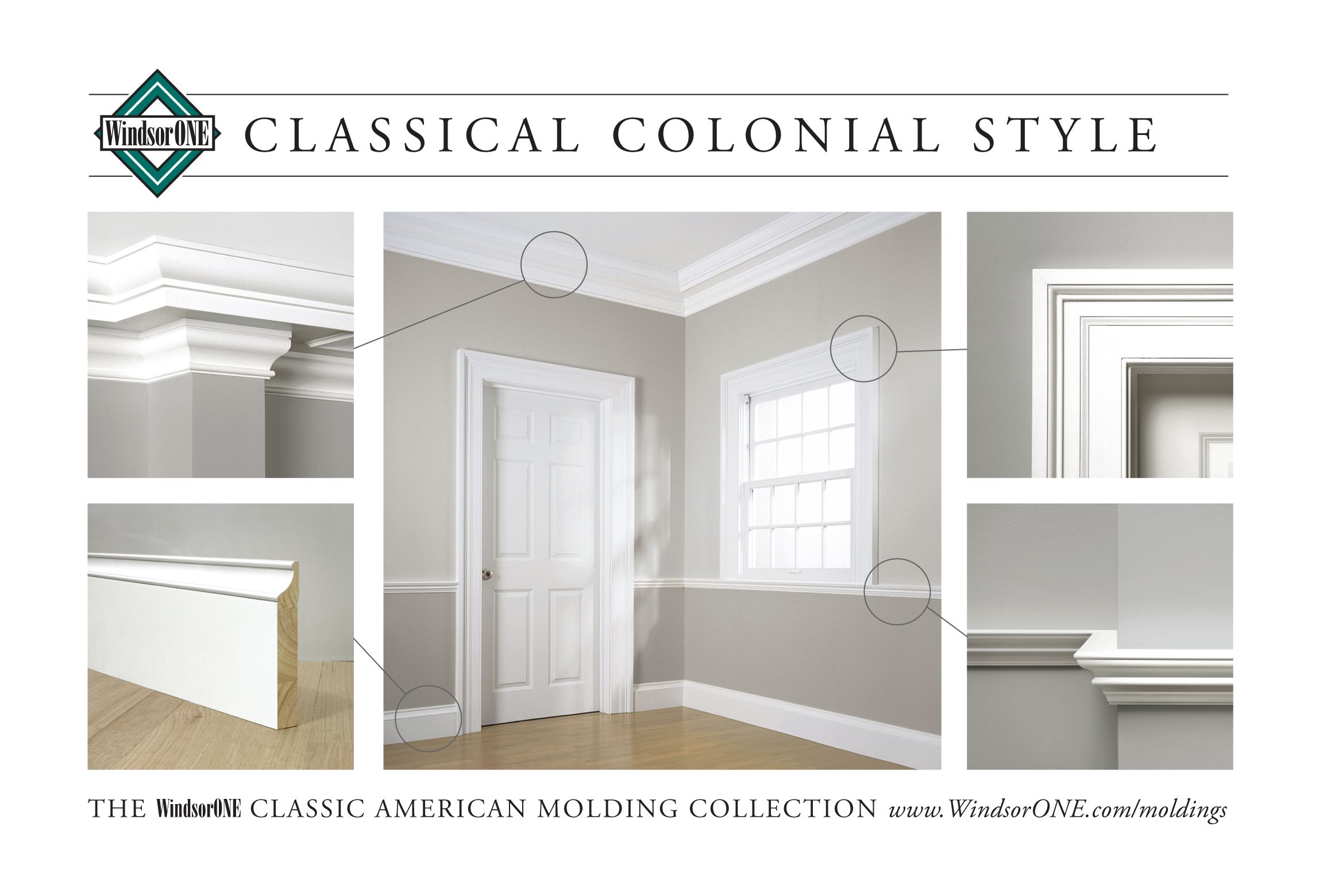 Classical Colonial Moldings 18th Century Style Windsorone Moldings And Trim Interior Window Trim Craftsman Interior