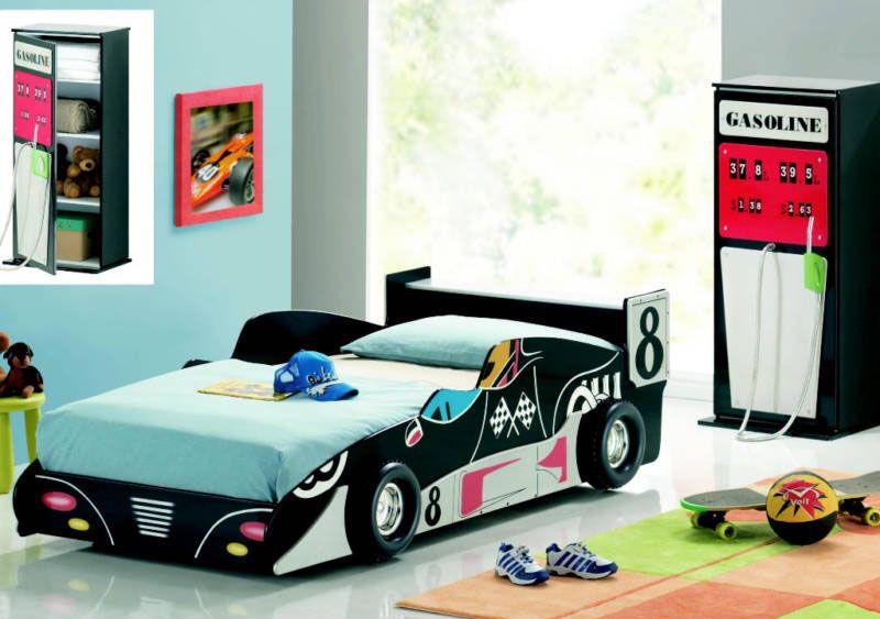 Best Childrens Black Ferrari F1 Racing Car Bed Frame Cool 400 x 300