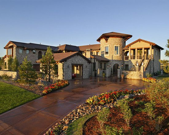 Tuscan Style Home In Parker Co A Southern Suburb Of
