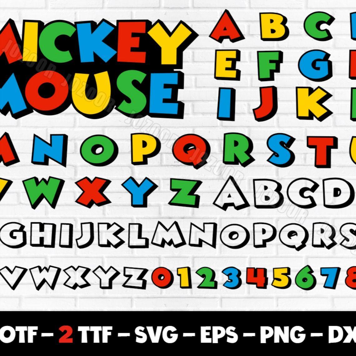 mickey mouse color font, mickey font svg, mickey font cricut, mickey font  silhouette disney font | Personajes de mickey mouse, Códigos de cupones,  Mickey