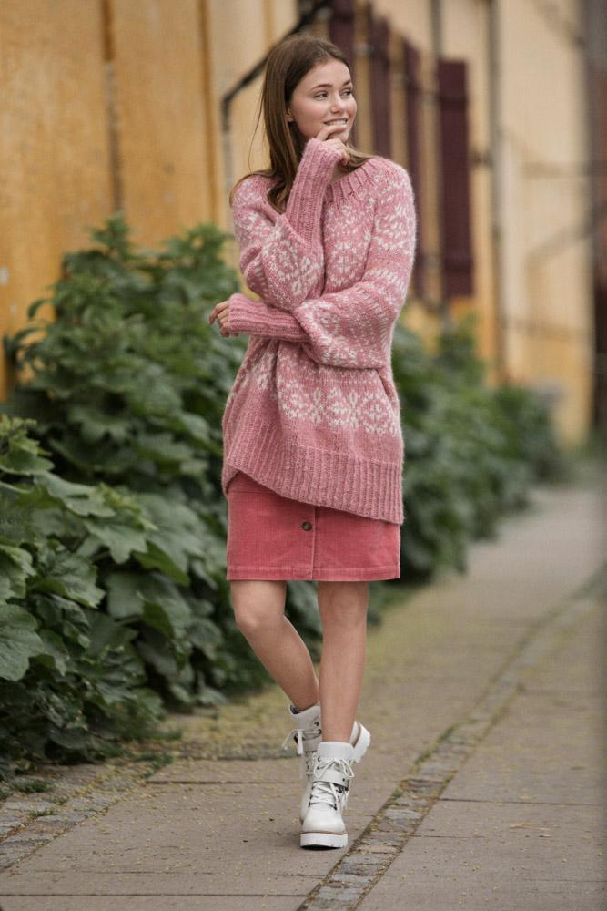 genser med rose