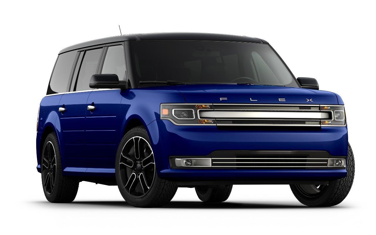 2017 blue ford flex limited