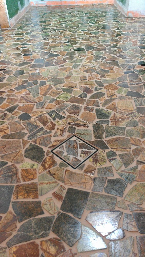 Broken Stone Mosaic Stone Mosaic Mosaic Tiles Mosaic Backsplash