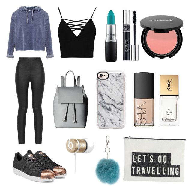 """""""#1 •• ^—^"""" by ctina-xo on Polyvore featuring Armani Jeans, Miss Selfridge, Boohoo, adidas Originals, MAC Cosmetics, Christian Dior, NARS Cosmetics, Yves Saint Laurent, Beats by Dr. Dre and French Connection"""
