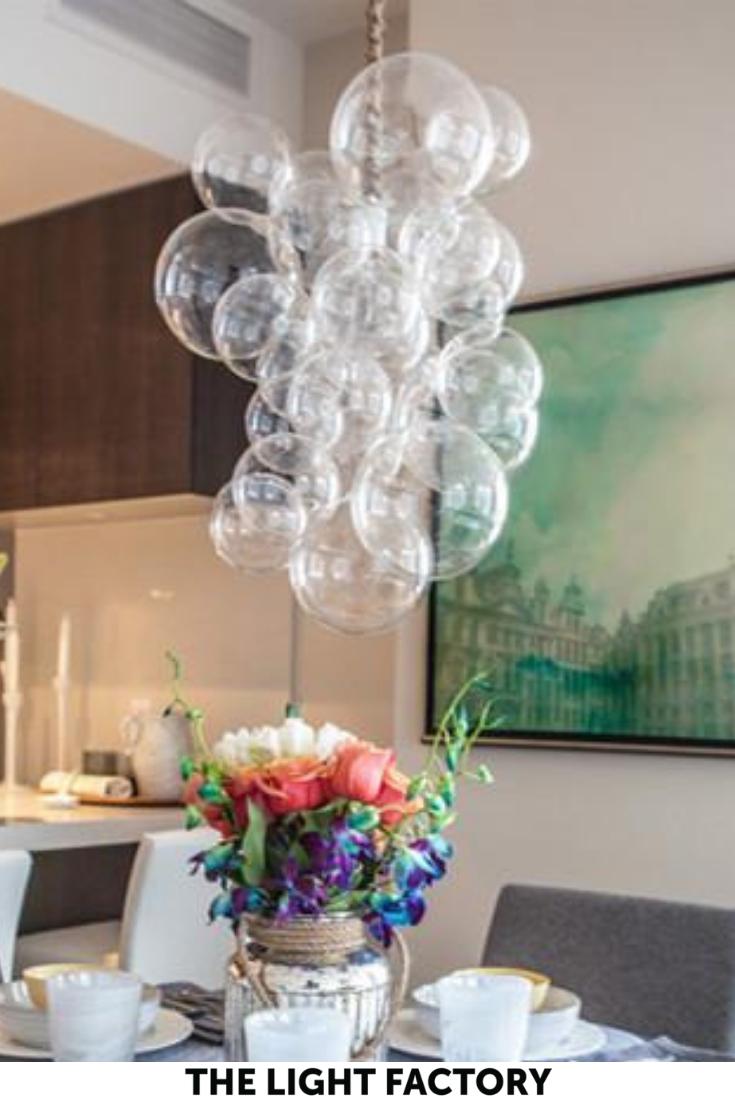 The Waterfall Bubble Chandelier In 2019 Bathroom Lighting Ideas Bubble Chandelier Lighting Entryway Lighting