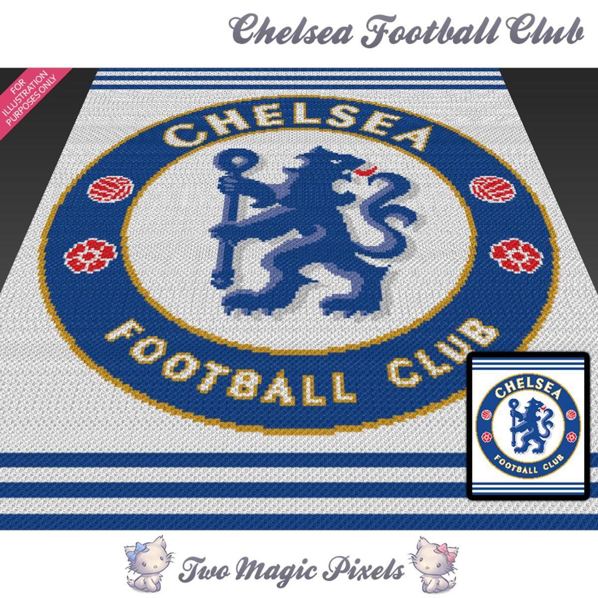 Chelsea Football Club Crochet Graph