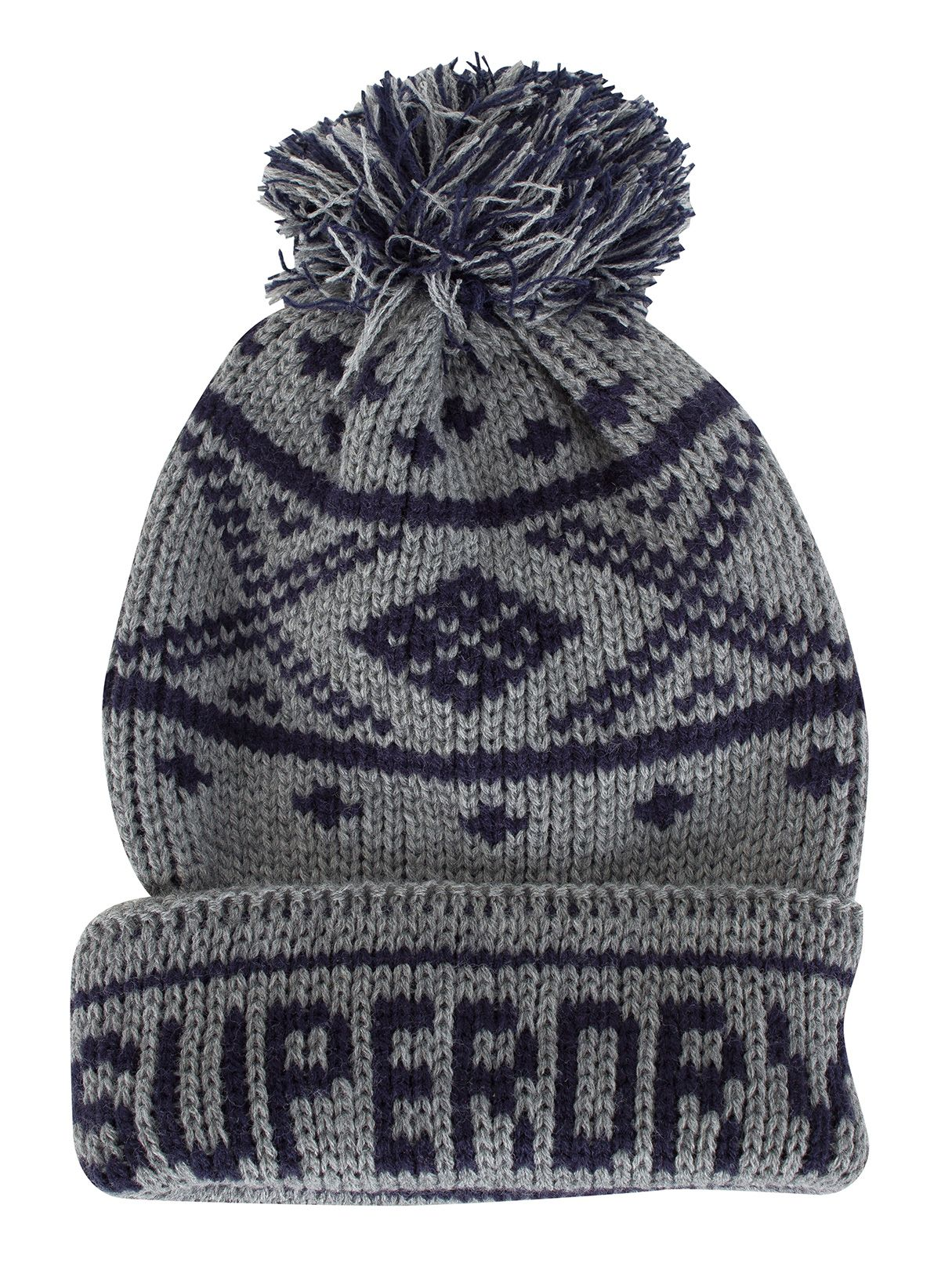 1b5c7fc7292 Buy Superdry Dark Marl Navy Oban Pattern Logo Beanie online today. Product  code  24384 M90000YN-506. Offered by Superdry