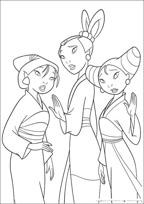 Friends Women Of Mulan Coloring Pages | play: coloring | Pinterest