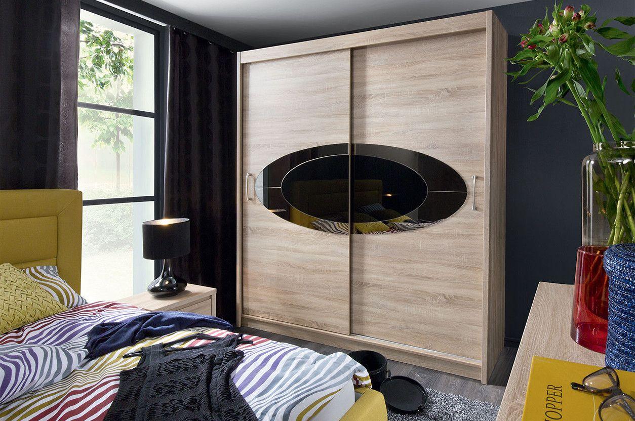 szafy z drzwiami przesuwnymi - Black Red White
