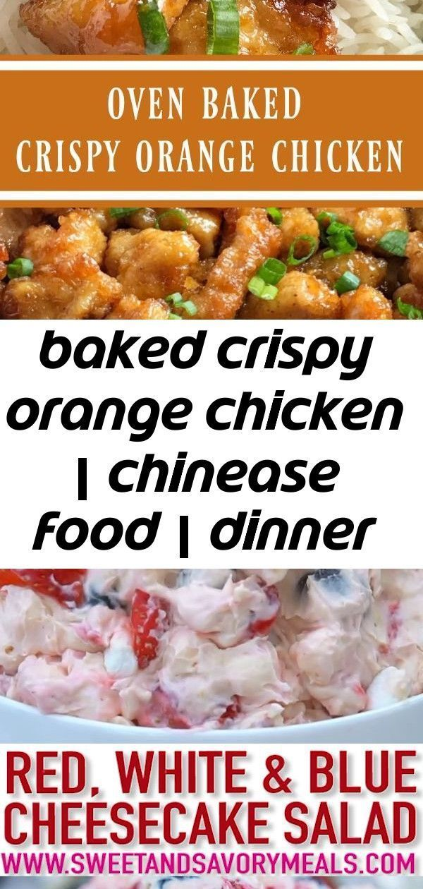 Baked crispy orange chicken | chinease food | dinner recipe | orange chicken | baked orange chicke 7 #chineseorangechicken Baked Crispy Orange Chicken | Chinease Food | Dinner Recipe | Orange Chicken | Baked Orange Chicken | This baked orange chicken is tastes better than any Chinese take-out you'll get at a restaurant. Crispy coating of egg & cornstarch and then it's baked in a sweet and delicious orange sauce. This is a dish that you will want to make over and over. #dinnerrecipes #easydinnerr #chineseorangechicken
