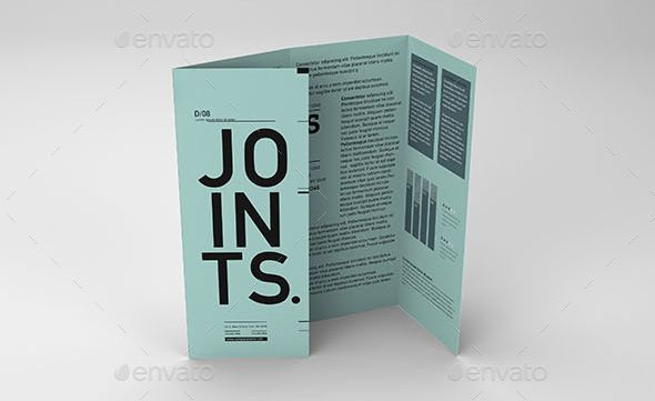 Gate Fold Roll Brochure Mockup  Brochure    Mockup And