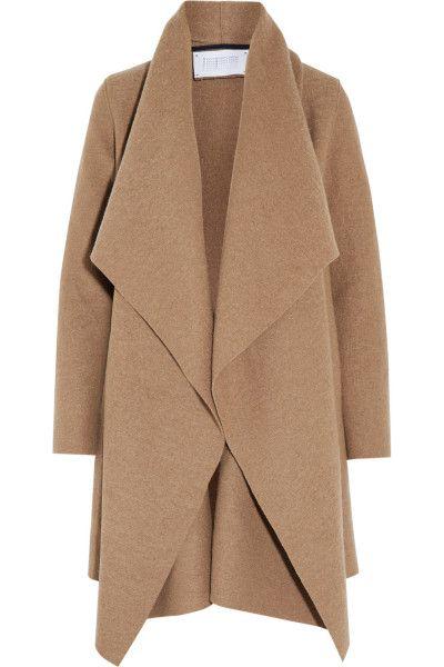 Manteau à col large marron beige, Harris Wharf