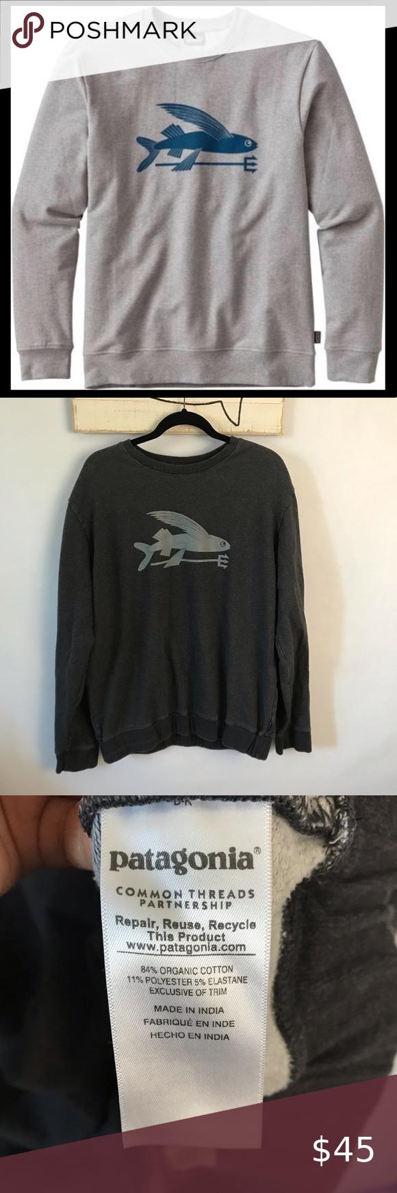 Patagonia Flying Fish Midweight Crew Sweatshirt Crew Sweatshirts Sweatshirts Patagonia Sweater [ 1740 x 580 Pixel ]