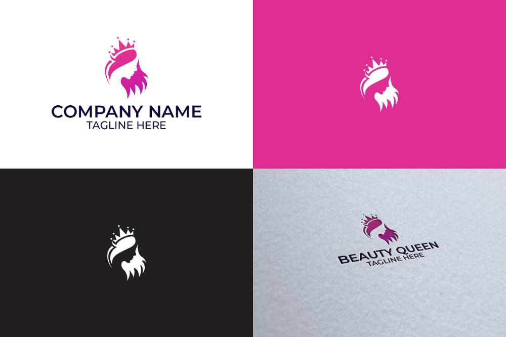 Beauty Queen Logo Design Logo Design Beauty Logo Design Logo Bundle