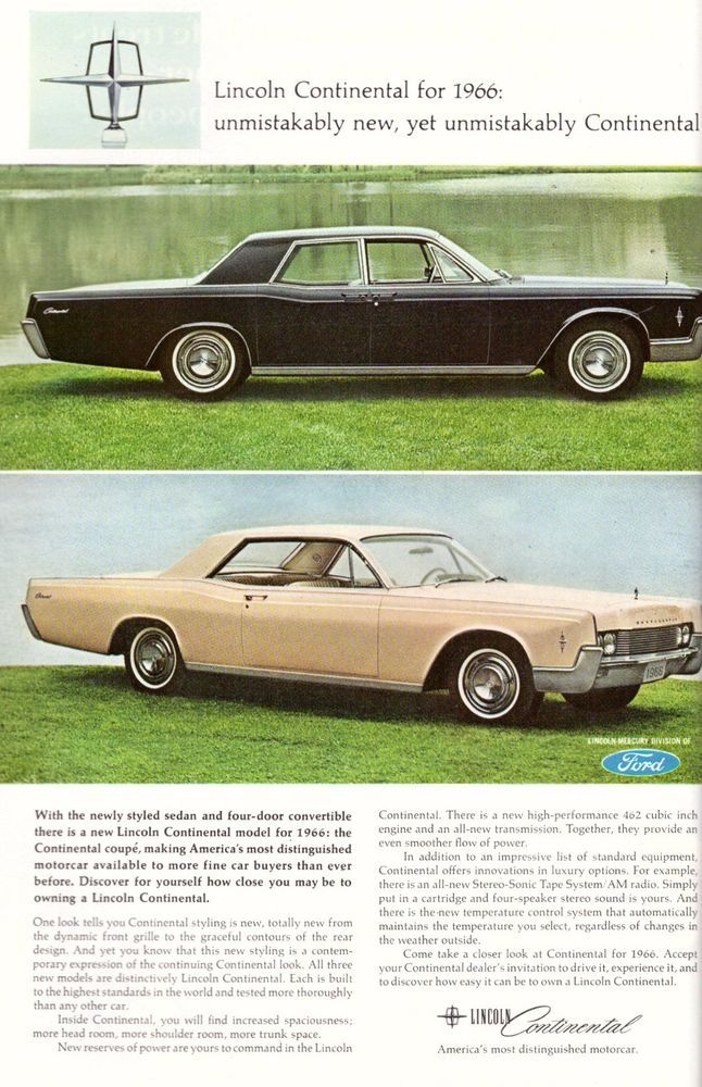 1965 Lincoln Continental Car Automobile Print Advertisement Ad Vintage Vtg 60s Ebay Lincoln Continental Car Ads Lincoln Cars