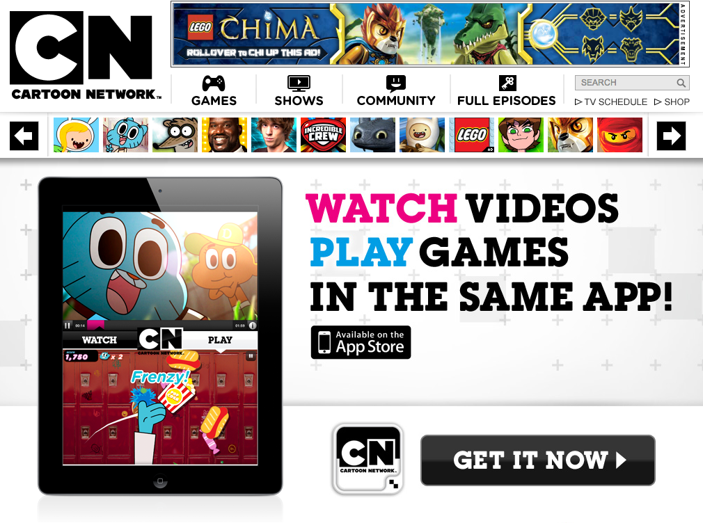 Cartoon Network app that lets you watch shows and play