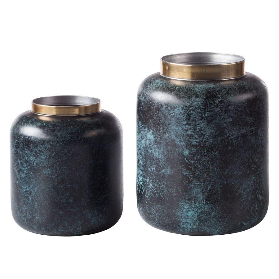 Vase Oxidise Ii 2 Teilig Living Vase Und Gold