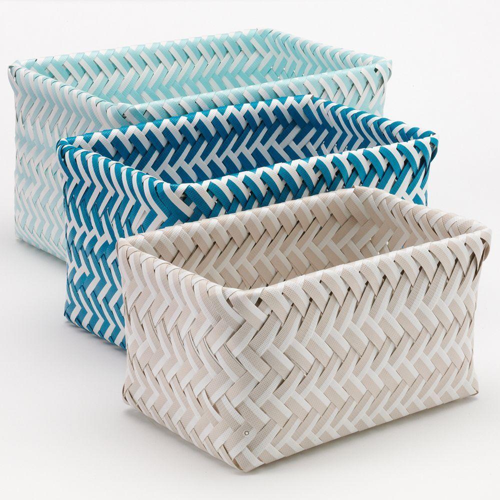 Sonoma Goods For Life Shoreline 3 Piece Bath Nesting Basket Set Basket Sonoma Goods For Life Elegant Homes