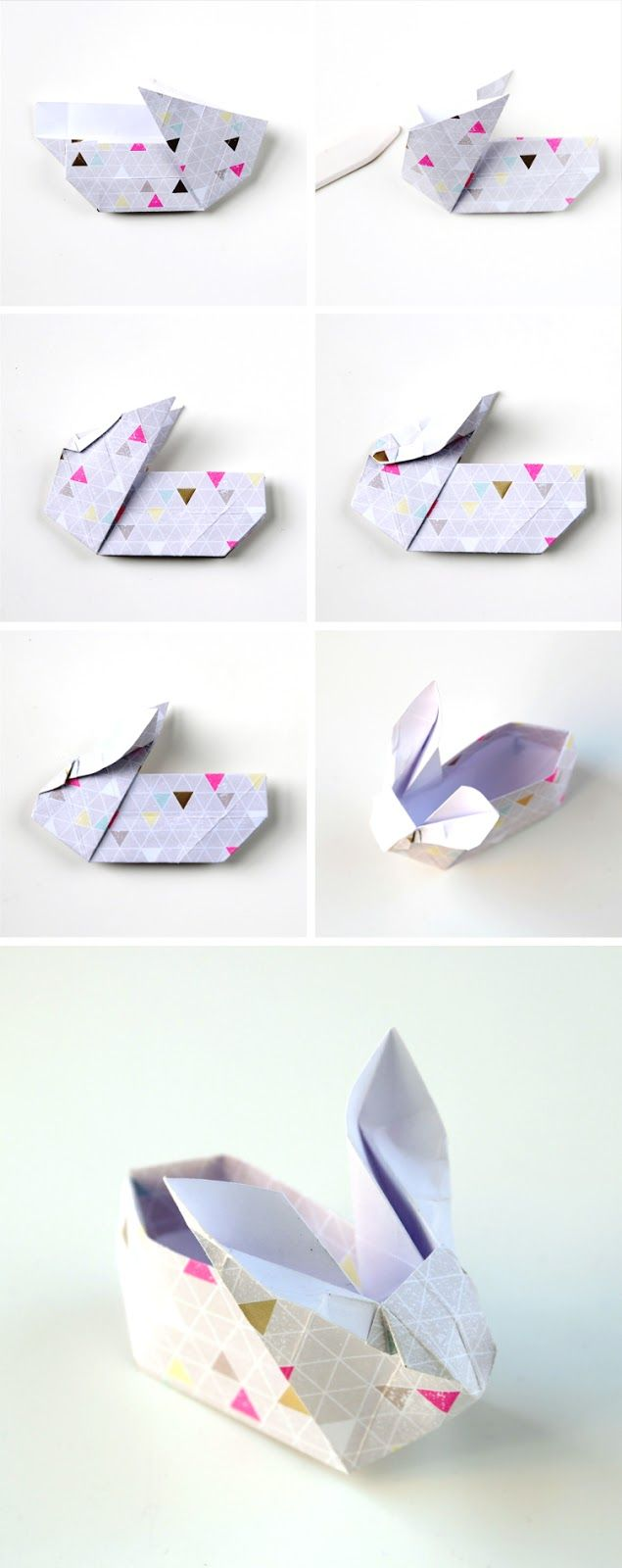 ORIGAMI EASTER BUNNY BASKETS. — Gathering Beauty | 1600x635