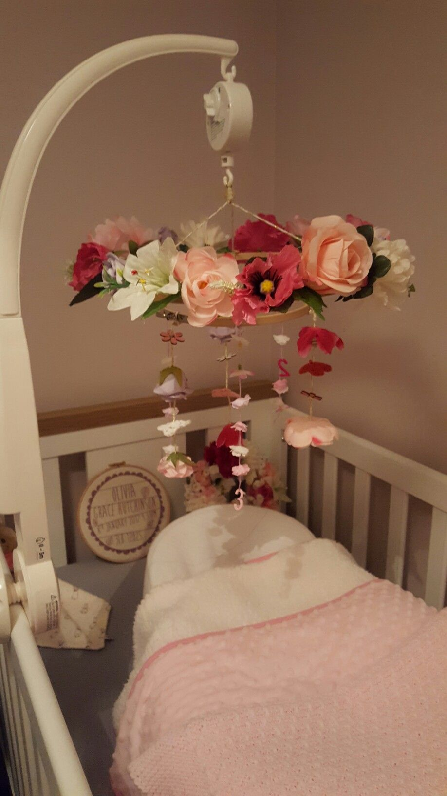 Baby Room Accessories: DIY Woodland Nursery Mobile For Baby Girls Room