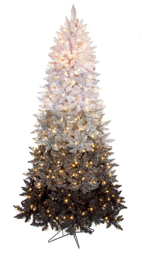 7 5 Ombre Christmas Tree Slim Size 600 Winter White Led
