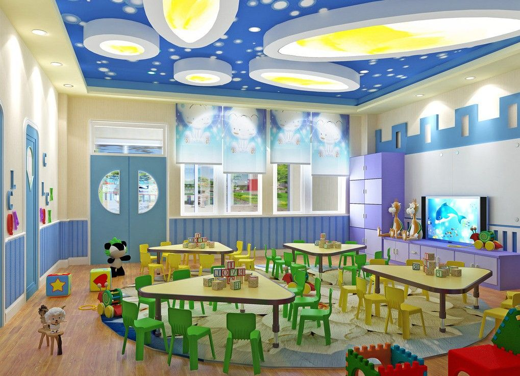 Wall Design For Kindergarten Classroom ~ D interior kindergarten classroom kid pinterest
