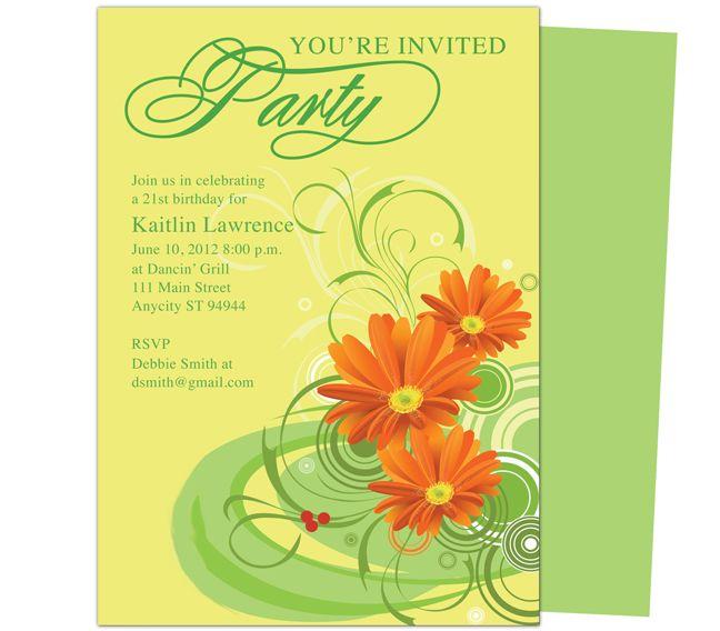 openoffice invitation templates