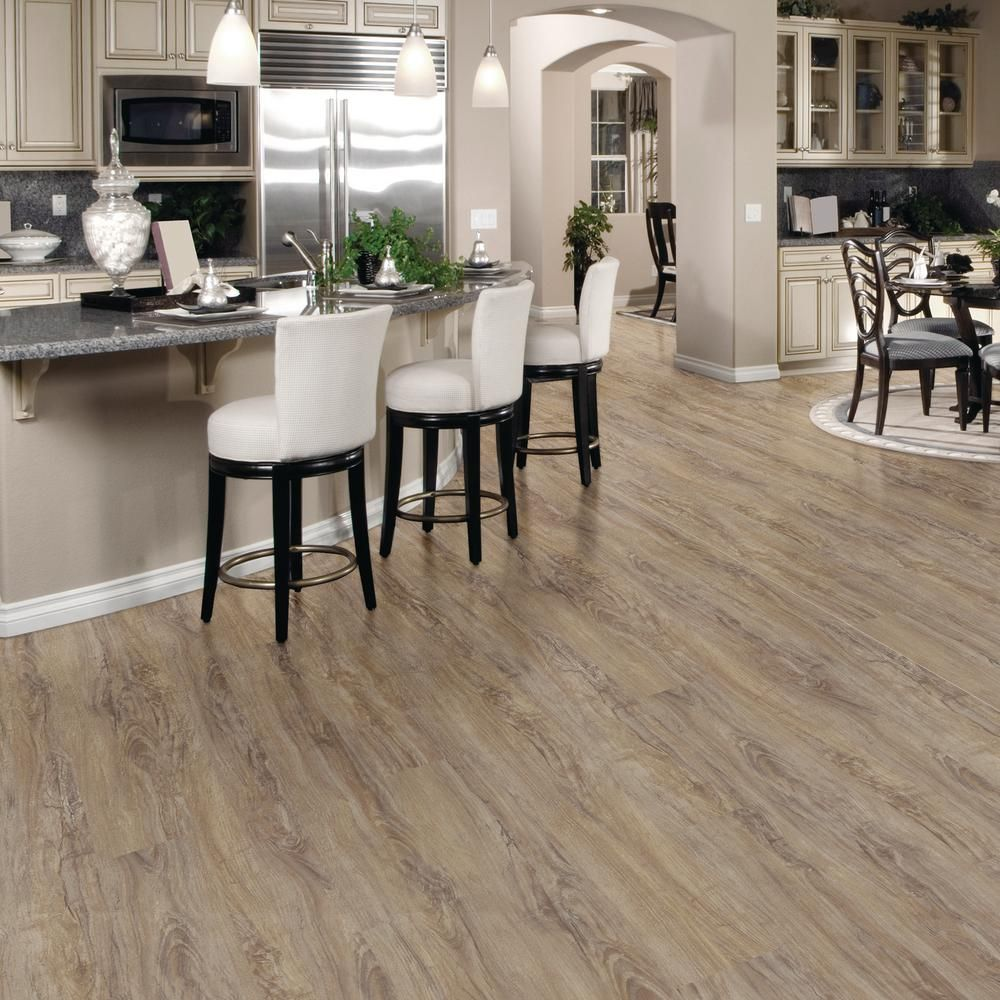 Trafficmaster Allure Ultra 7 5 In X 47 6 Vintage Oak Gray Luxury Vinyl Plank Flooring 19 8 Sq Ft Case 51715 The Home Depot