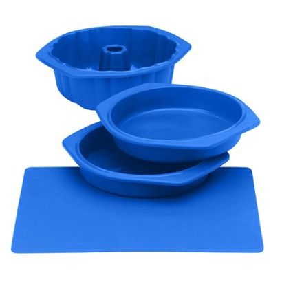 Silicone Solutions Blue Cake Baking Set.