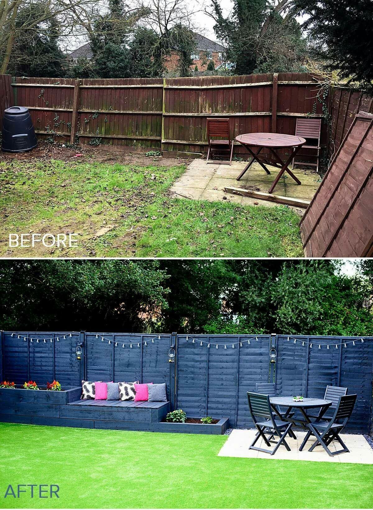 Look This Awesome Garden Bench Old Ideas 1293882785 Diyporchbench Gardenbenchideasd Backyard Landscaping Designs Small Backyard Landscaping Backyard Makeover