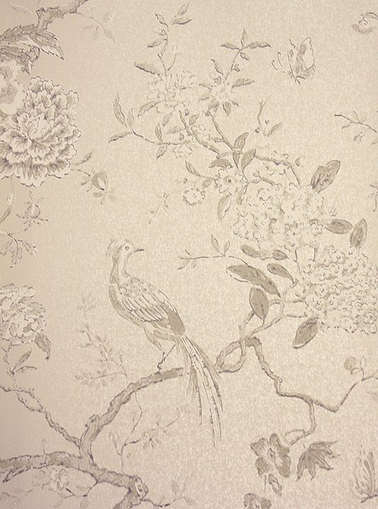 Wallpaper attic oriental bird wallpaper beautiful bird and branch design wallpaper in ivory on metallic